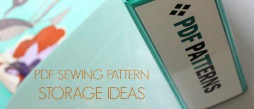 PDF Sewing Pattern Storage Title
