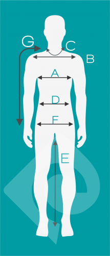 size chart - الگوی لباس مردانه