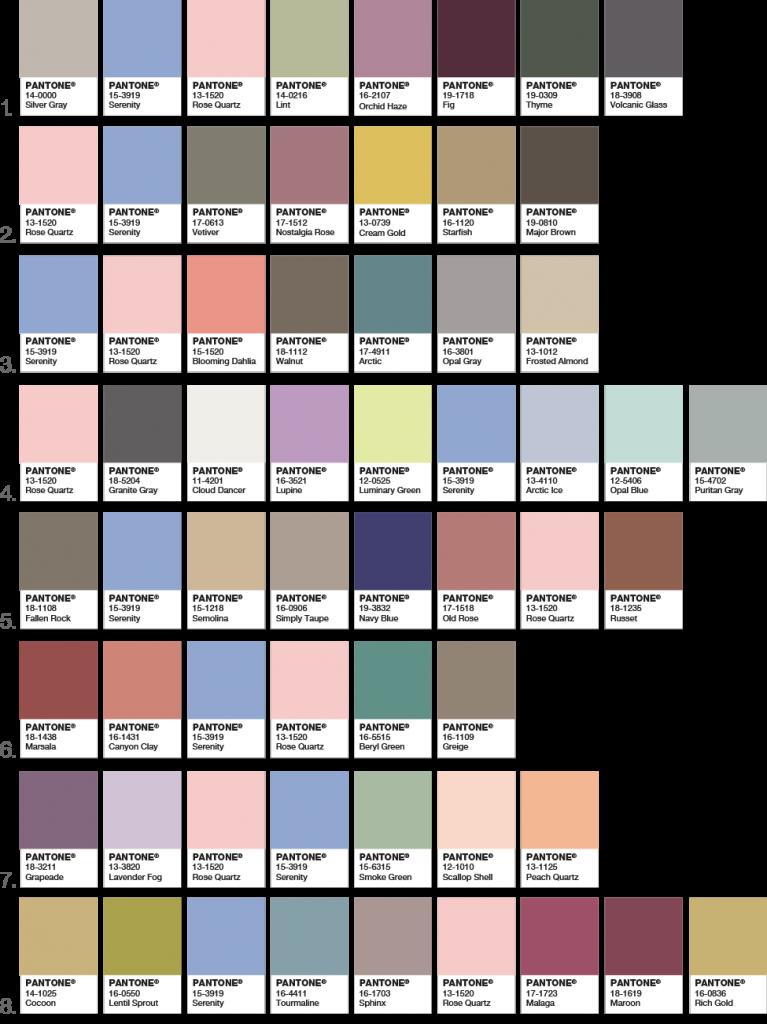 ترکیب رنگ 2016