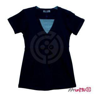 تی شرت یقه هفت کمربنددار
