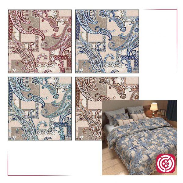 پارچه ملحفه نساجی طوبی - طرح شاندیز