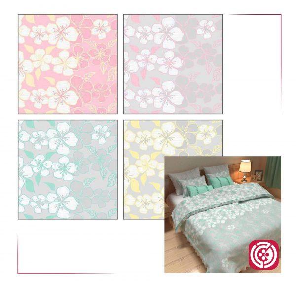 پارچه ملحفه نساجی طوبی - طرح فلورا