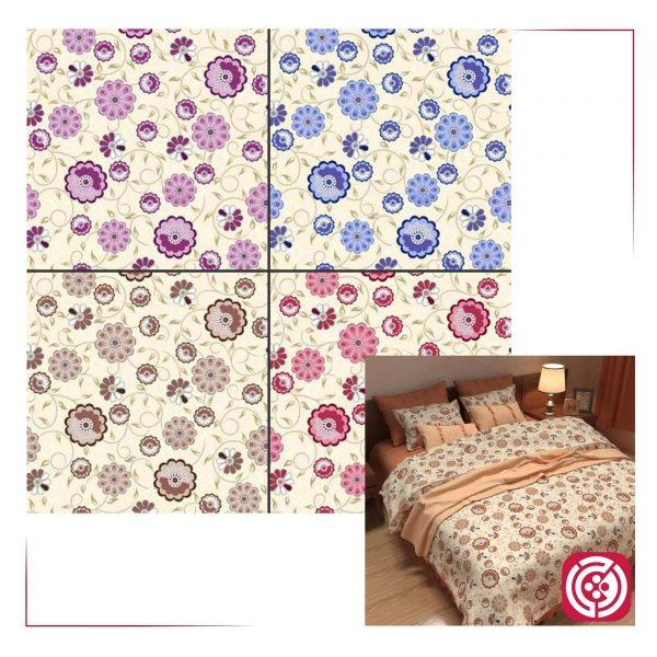 پارچه ملحفه نساجی طوبی - طرح پوپک