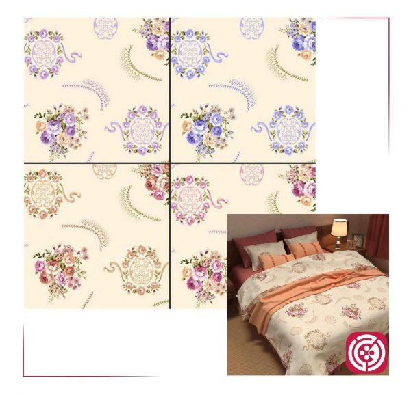 پارچه ملحفه نساجی طوبی - طرح پامچال