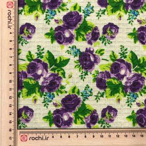 پارچه دستمالی (زنبوری) پنبه ای گلدار