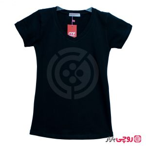 تی شرت یقه هفت ساده