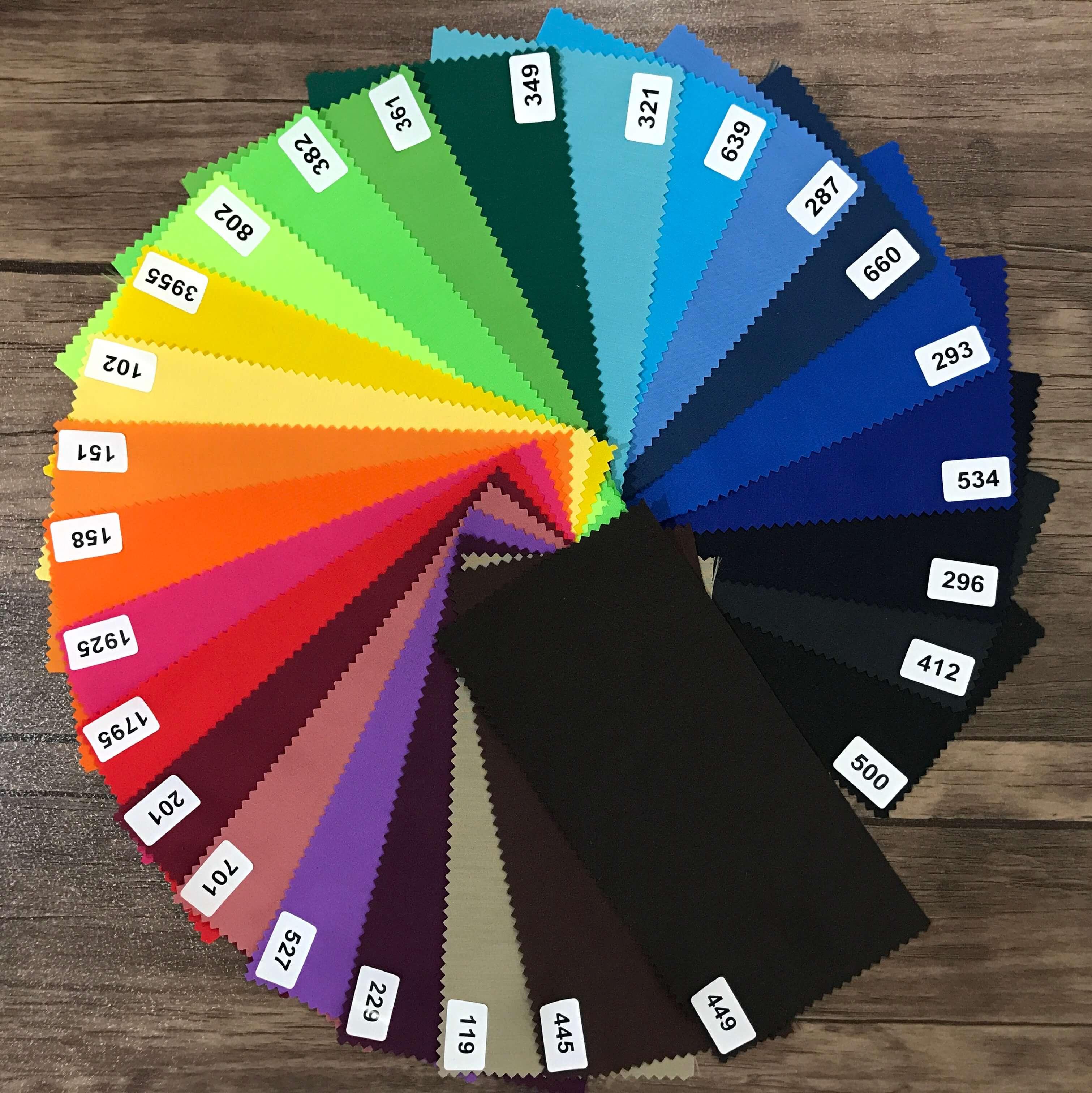 پارچه تترون عرض سه متر رنگ های سیر