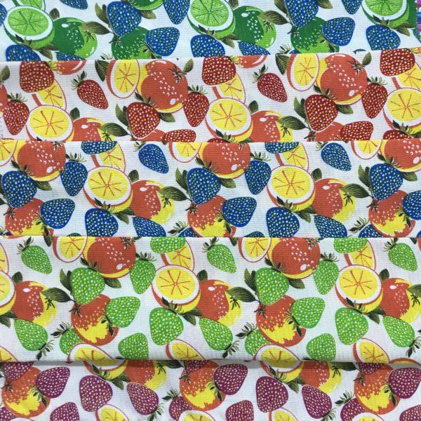 پارچه دستمالی (زنبوری) جنس فلامنت-طرح اورنج