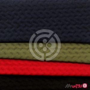 پارچه تریکو ژاکارد مارپیچ ملانژ رنگی