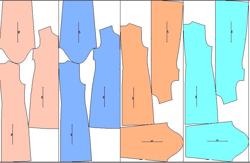 مانتو پارچه دیور روچی - الگوی پایه بالاتنه زنانه