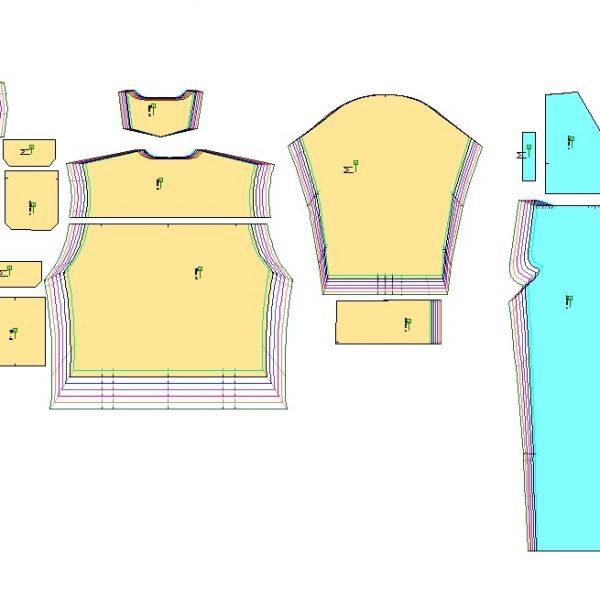 الگوی لباس کار سانچی
