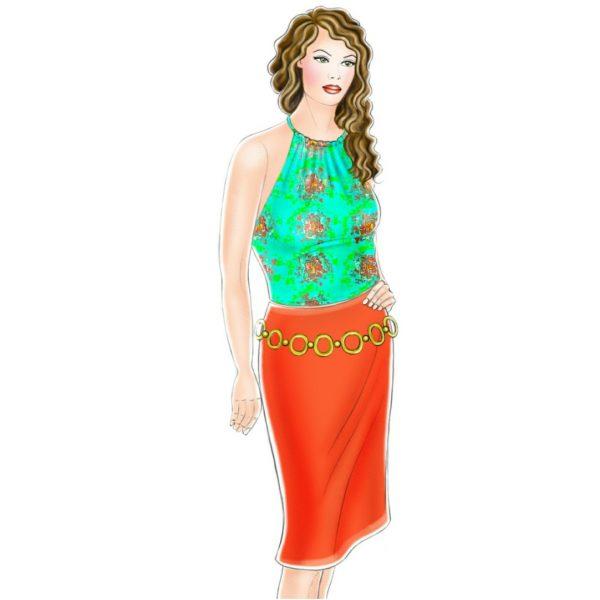 الگوی پیراهن نینا