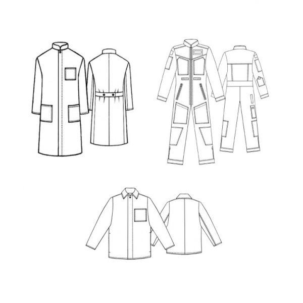 پکیج ۳ تایی الگوی لباس کار مکس