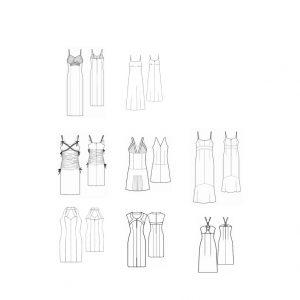 پکیج ۸ تایی الگوی لباس تینا