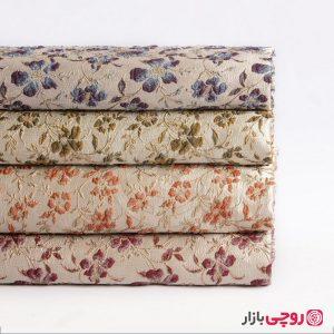 پارچه ژاکارد گل رنگی