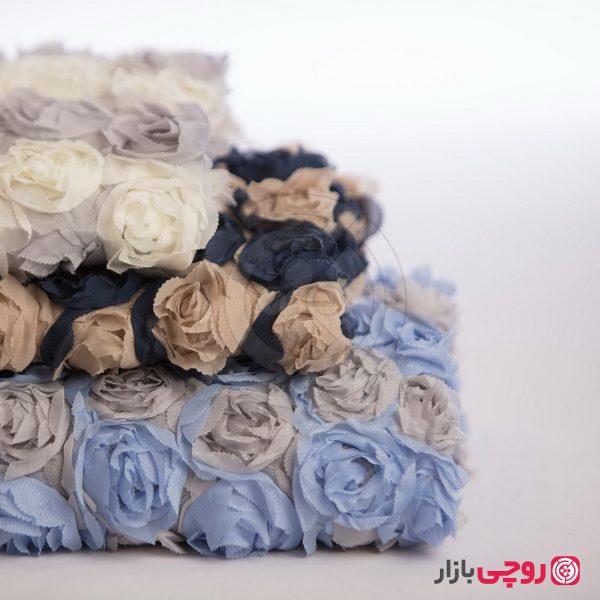 پارچه گل برجسته دو رنگ