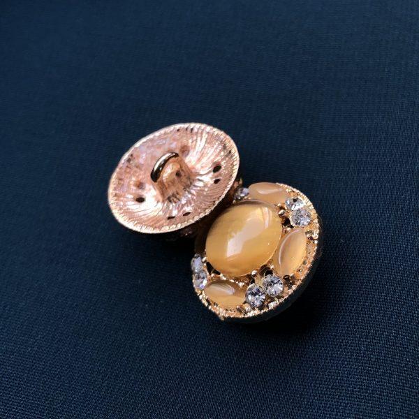 دکمه فلزی نگیندار گلد ۲ (بسته۱۰ عددی)