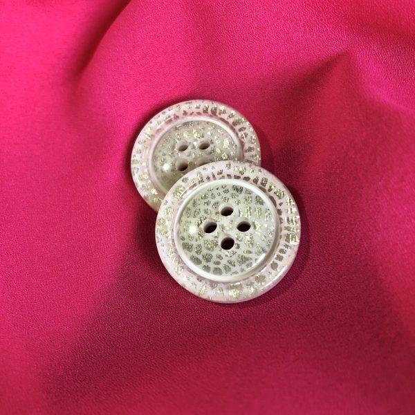 دکمه صدفی نقره ای ۸۵(بسته ۱۰۰ عددی)
