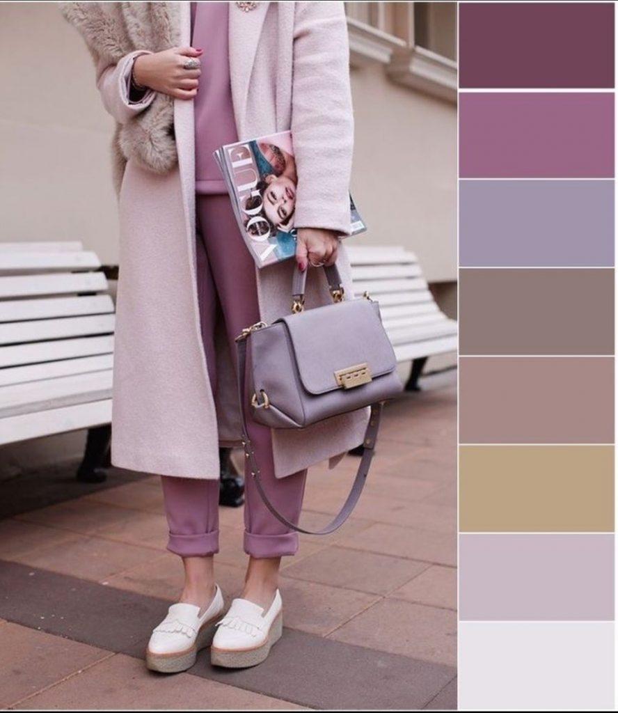 انواع پالت رنگی پالتو زمستانه و ترند 2019