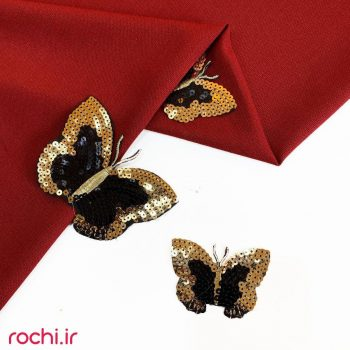 اپلیکه پروانه پولکی 107