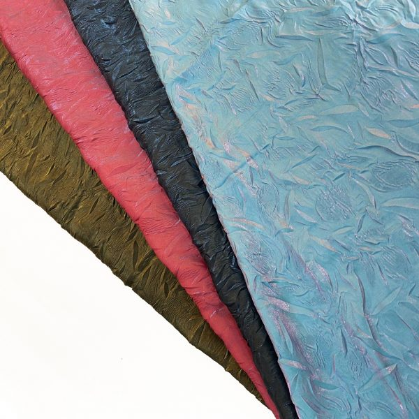 پارچه شیمر هفت رنگ چروک