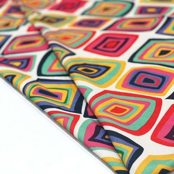 پارچه شانتون چاپی طرح رنگینک