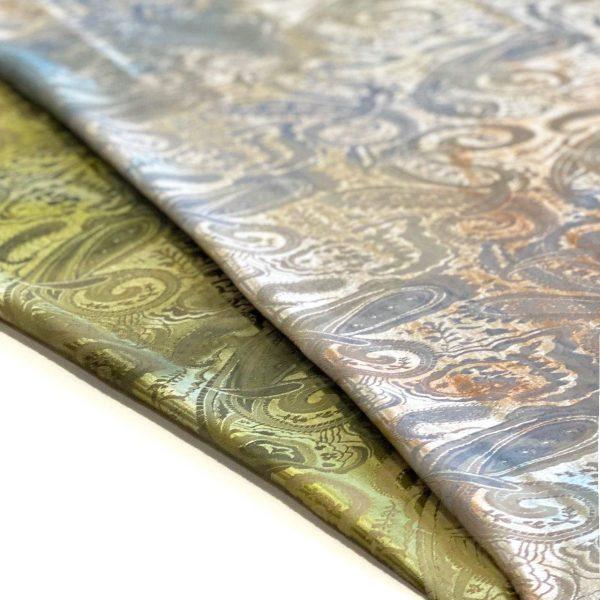 پارچه ژاکارد ابریشم هفت رنگ