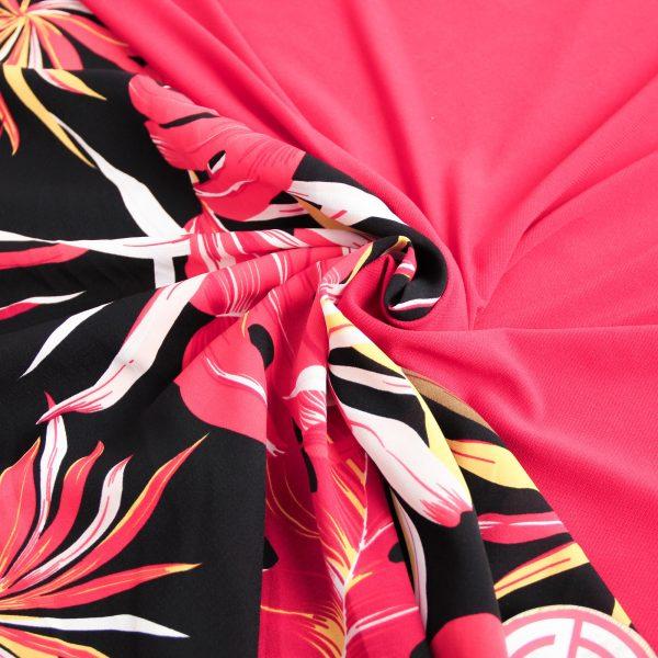 پارچه کرپ کش گلدار آنجلا و ریون تیدا