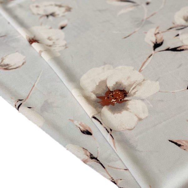 پارچه کرپ گلدار ترگل