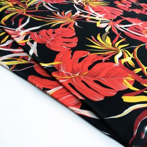پارچه کرپ کش گلدار آنجلا