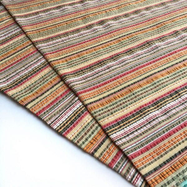 پارچه کتان رنگین