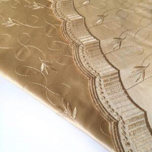 پارچه طرحدار حاشیه گلد ارغوان