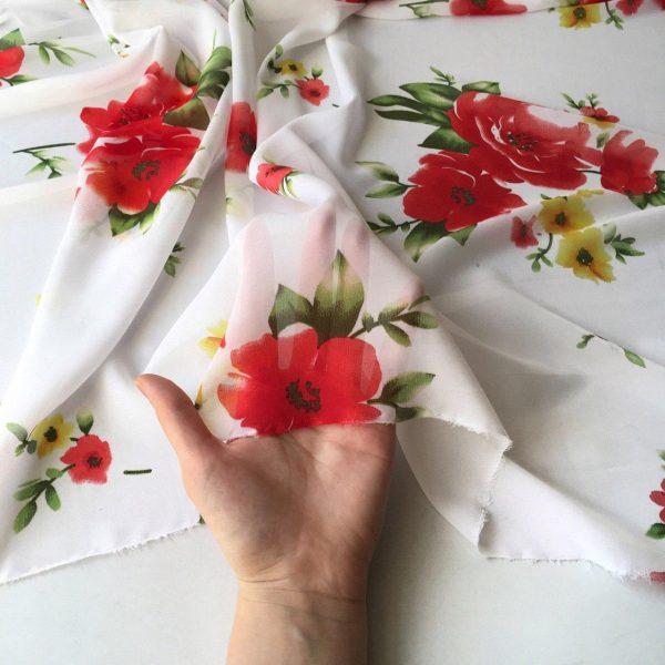 پارچه حریر گلدار رائیکا
