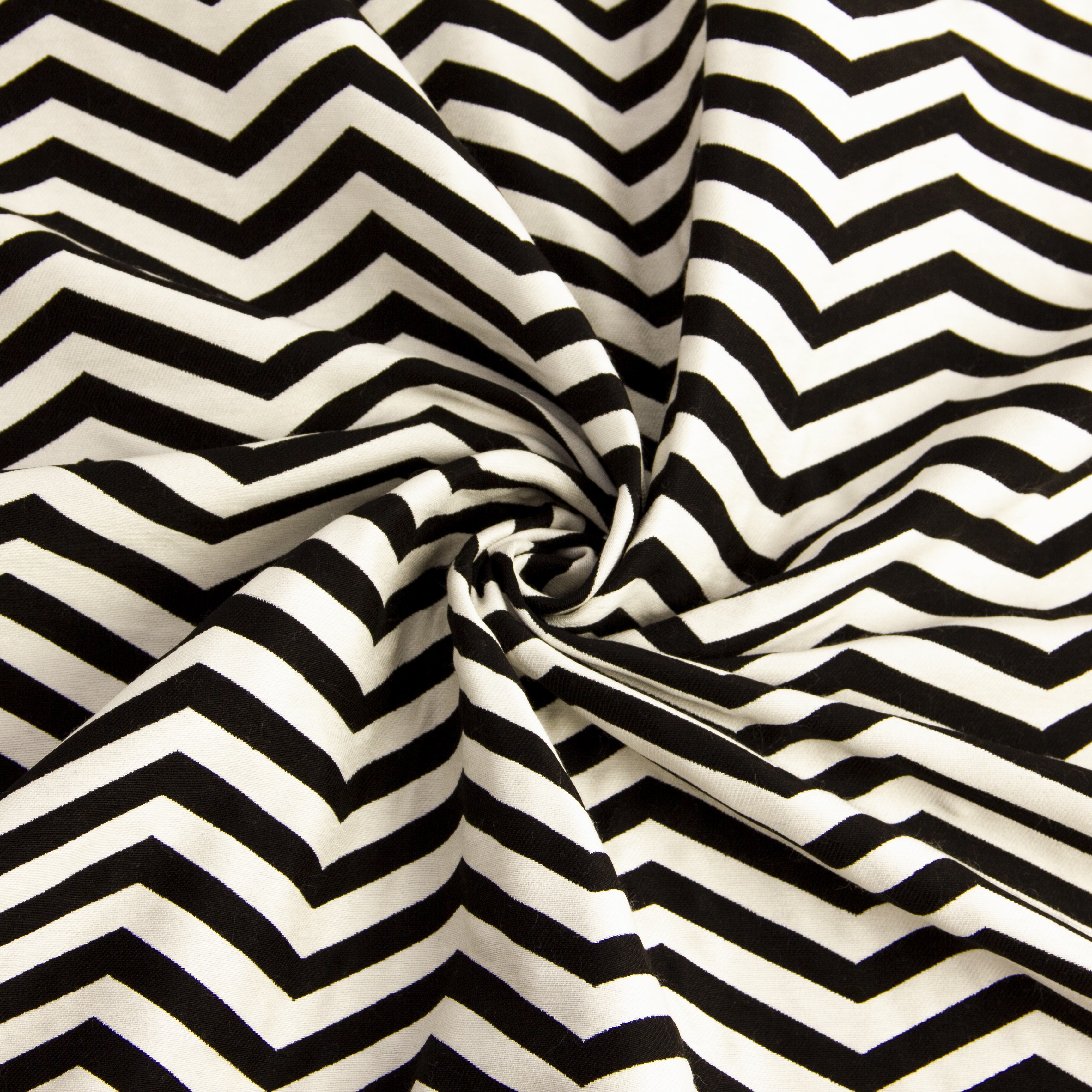 پارچه ژاکارد خطی پالمیرا سفید سیاه