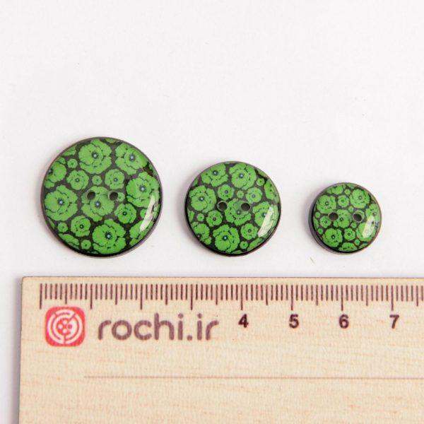 پارچه گلچه سبز