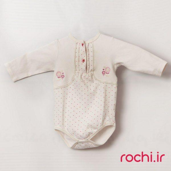 الگوی نوزادی زیر دکمه شکوفه
