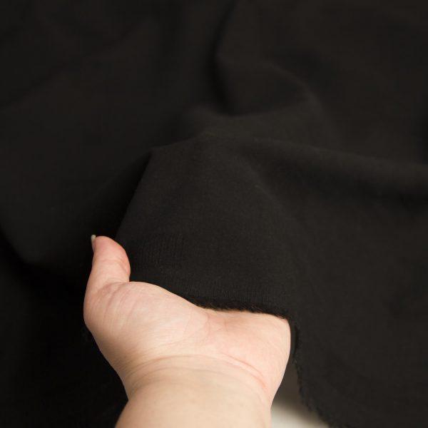 رنگ مشکی پارچه لینن نخ طرحدار نارگل - روچی
