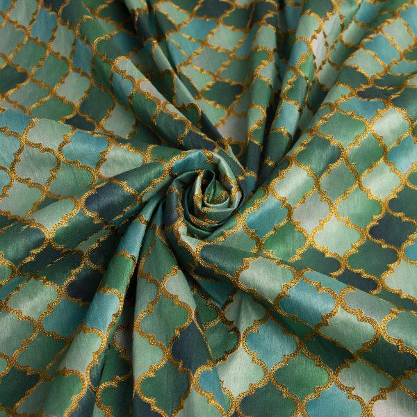 خرید آنلاین پارچه ابریشمی زرتاج - روچی