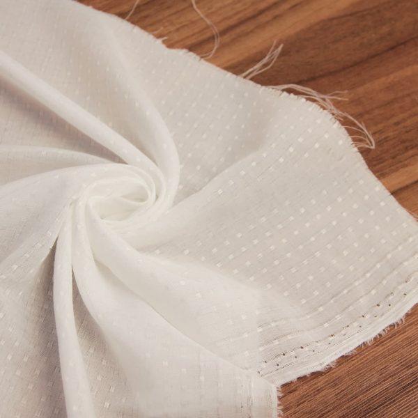 خرید پارچه شال و روسری حریر نقطه ای طرحدار - روچی