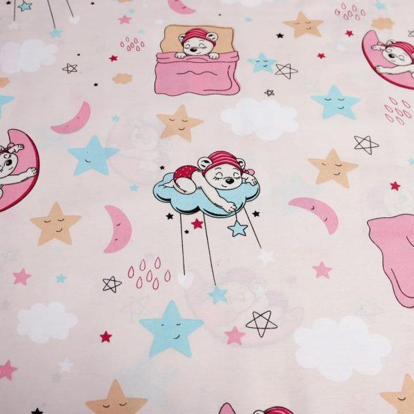 خرید عمده پارچه ملحفه ای عروسکی ماه و ستاره - روچی و