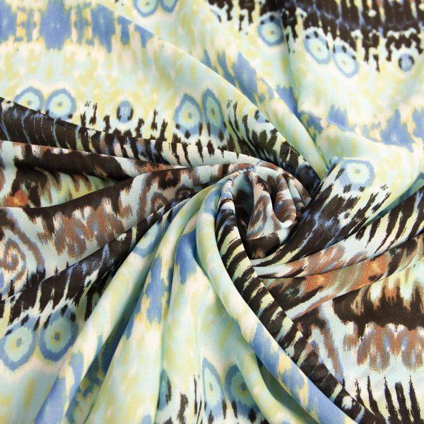 خرید متری پارچه کرپ نخ ماربلینگ همراز - روچی