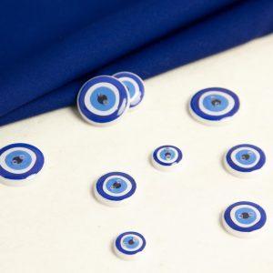 دکمه طرح چشم نظر -روچی