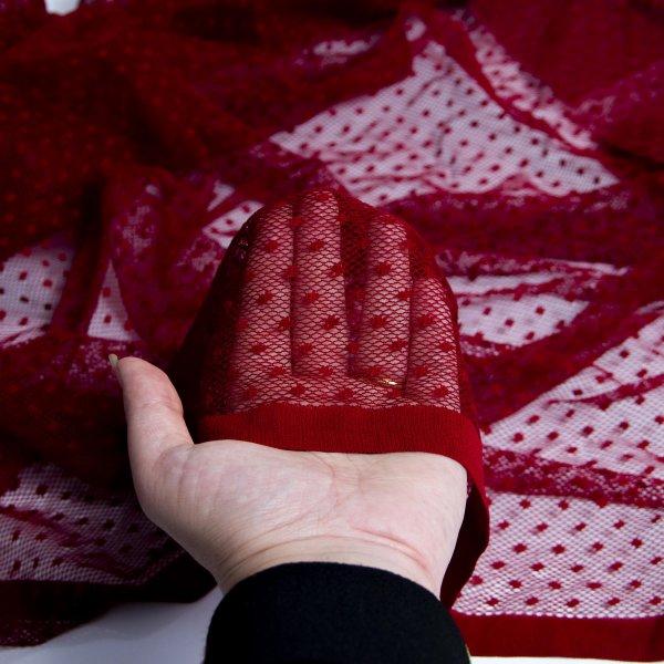 خرید پارچه تور خالدار ژیوان - فروشگاه آنلاین روچی