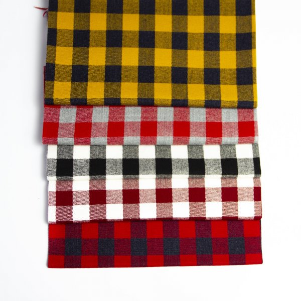 خرید عمده پارچه کشمیر چهارخونه - روچی