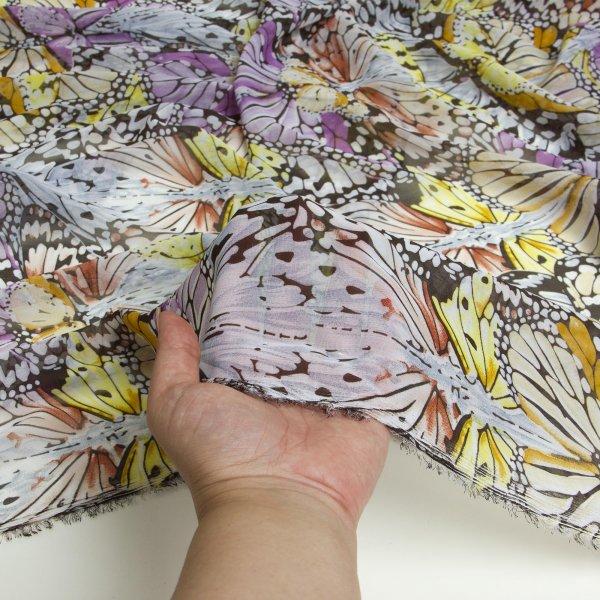 خرید پارچه حریر طرحدار گل بانو  - روچی